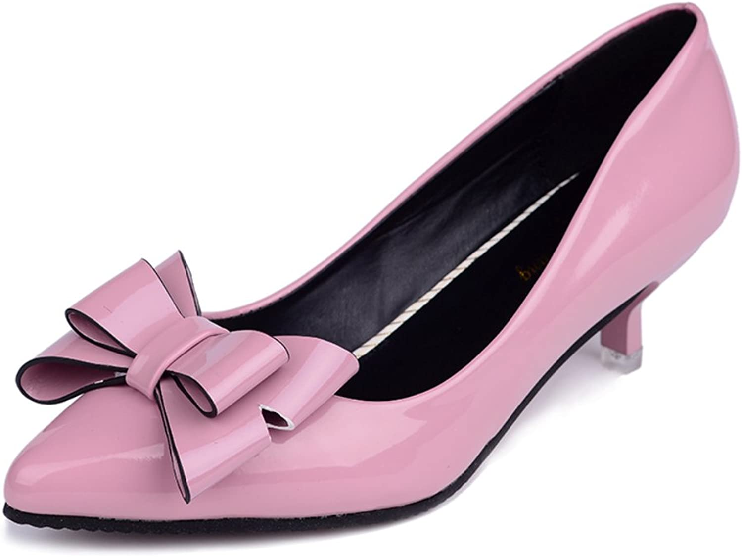 Huhuj Pointy shoes Light Comfortable Bow Stiletto shoes