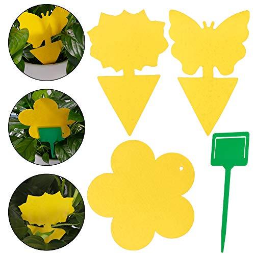 umorismo 45Pcs steckbare Fliegenfalle, Klebefallen, Klebefallen für Pilzmücken, Blattläuse, Bergbaufliegen und Weiße Fliegen, perfekt gegen Insekten
