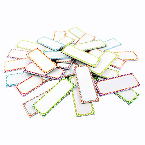 Magnetic Dry Erase Labels Name Plates White Board 32 Labels 8 Colors,3.2' x1.2'