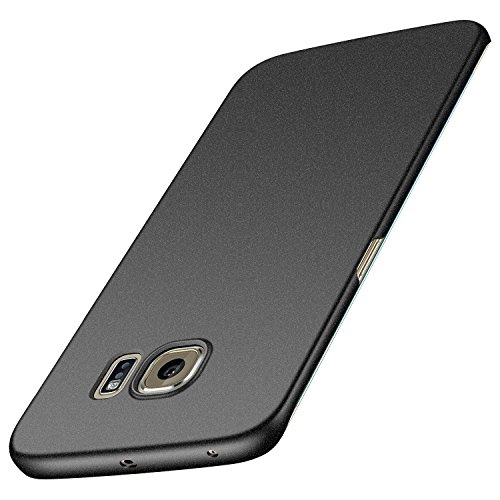 Anccer Cover per Samsung Galaxy S6 Edge, [Alta Qualità] [Ultra Thin] Anti-Scratch Hard PC Case Custodia per Galaxy S6 Edge (Non adatto per Galaxy S6)-Ghiaia Nera
