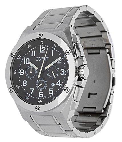 Esprit 4441761 - Reloj cronógrafo de caballero de cuarzo con correa de acero inoxidable multicolor