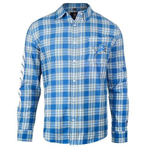 Detroit Lions Wordmark Basic Flannel Shirt Large