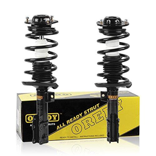OREDY Shocks and Struts 2PCS Front Struts 11671 11672 172200 172199 Complete Struts Assembly Shocks Coil Spring Suspension Struts Kit Compatible with Malibu 04-12 G6 05-10 Aura 07-09