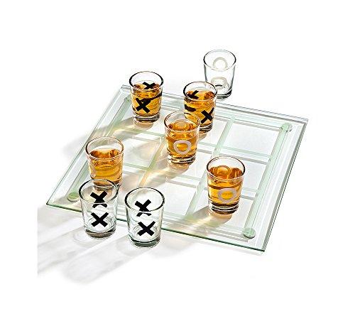 Godinger Studio Tic Tac Toe Drinking Game Set