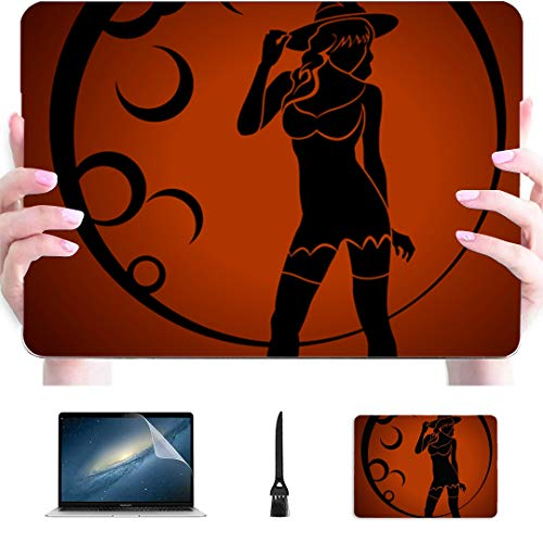 Macbook Cover 15 Inch Witch Plastic Hard Shell Compatible Mac Macbook Air Laptop Case Protection Accessories For Macbook With Mouse Pad