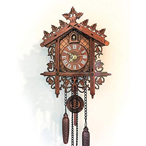 Orologio A cucù Stile Vintage Casa Sull'albero A Mano A Dondolo Orologio A cucù da Parete Art Decorazione della Parete di Arte della Decorazione della Casa Moderna,2