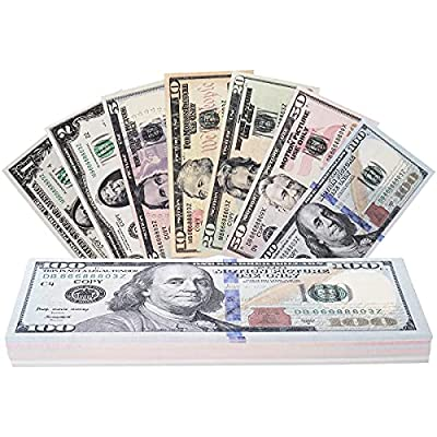 RUVINCE Play Money That Looks Real Prop Money Dollar $3,760 Fake Dollar Bills USD Cinema Props Prop Stack by Orcalo