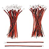 mxuteuk 30 Pairs 26 AWG 2 Pin Mini Micro JST 1.25mm Connector Plug Cable Wire Male Female with 100mm Cable JST -1.25mm