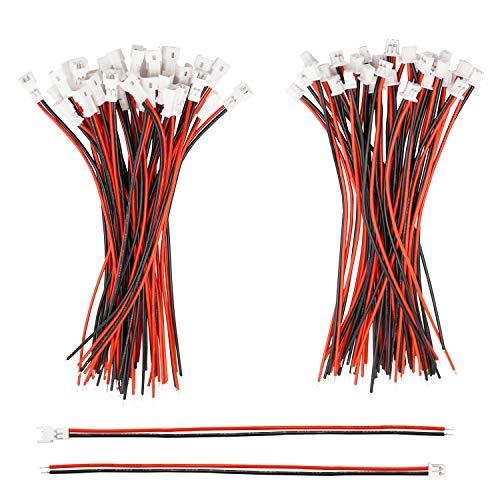 Tnisesm/ 30 Paare 26 AWG 2 poliger Mini Micro JST 1.25 mm SM Steckverbinder mit Kabeldraht Männlichen und Weiblichen Steckverbinder mit 100 mm Kabel JST -1.25 mm