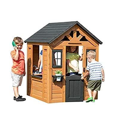 Backyard Discovery Sweetwater All Cedar Wooden Playhouse by Backyard Discovery