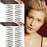 Aresvns Eyebrow Tattoo 88 Pairs ! 4 Colors Realistic Fake Tattoo Eyebrows,4D Multi Color Imitation Eyebrows Transfer Stickers for Different Makeup Looks(Jan.18.2021 ver.)