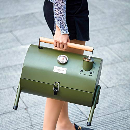 51tYZsazEeL. SL500  - Kunyun Tragbarer Outdoor-Grill, Terrasse, Camping, Picknick, Herd, Farbe: Rot, Größe: 42 x 29 x 37 cm