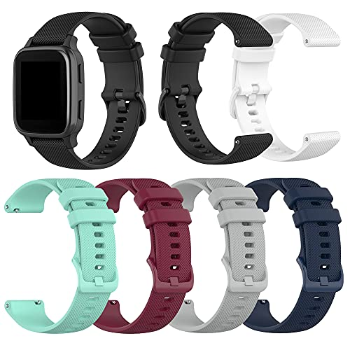 6-Pack Replacement Bands Compatible with Letsfit IW1 EW1 Smart Watch band, Soft Silicone Wristband Quick Release straps for Women&Men(not for ID205L&ID205S) (Multicolor6-Pack)
