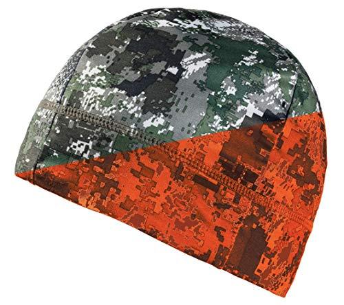 Parforce fleece omkeerbare muts signaalcamo groen/blaze oranje Tecl-Wood® Digital Camouflage jachtmuts