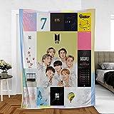 Album Limited Edition Cozy BTS Blanket Primeum Fleece Blanket Custom Blanket Gift for Army (Design 4)