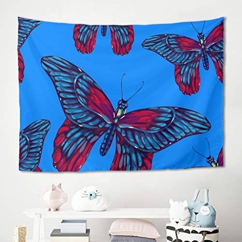 Gamoii Mariposa Insecticida Azul Pared Tapiz Tapiz Picnic Beach Sheet Toalla de...