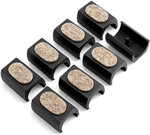 Design61 Filzgleiter 8er Set für Freischwinger Stuhlgleiter Ø 23-25 mm Möbelgleiter Klemmschalengleiter mit geräuschdämpfender Filzgleitfläche