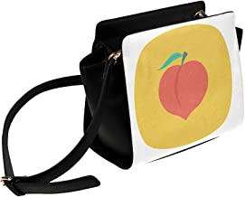 Colorful Food Eat Fruit Peach Cartoon Satchel Bag Crossbody Bags Travel Tote Bags Duffel Strap Shoulder Bags Luggage Organizer For Lady Girls Womens Work Shopping Outdoor
