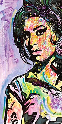 Culturenik Dean Russo Amy Winehouse Modern Decorative Art Print (Unframed 12x24 Poster)