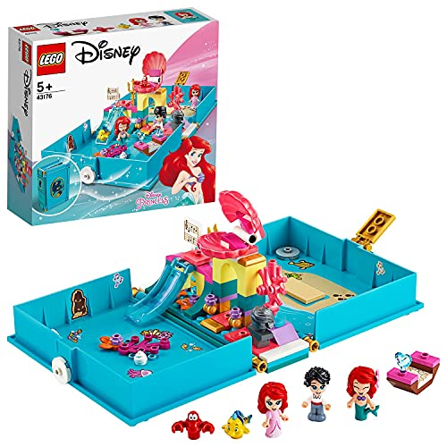 LEGO DisneyPrincess IlLibrodelleFiabediAriel, Playsetcon la Figura della Sirenetta Ariel, Giocattolo in Valigetta da Viaggio, 43176