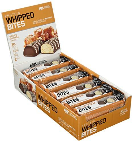 Optimum Nutrition Protein Whipped Bites Bars- EiweißRiegel (mit 20g Eiweiß (enthält Whey Isolate), ohne Zuckerzusatz) Salted Caramel Riegel, 1er Pack (12 x 76g)