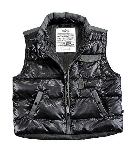 Alpha Industries Cold Gear Down Vest Weste Black,