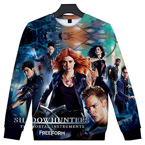 If like Neue Shadowhunters Shade Hunter 3D Digitaldruck locker sitzende lässige Rollkragen lässig Top Hoodie B XXXXL