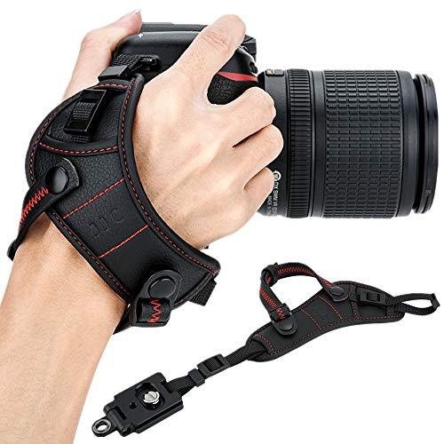 JJC - Correa de Mano para cámara réflex Digital con Placa Tipo Arco para Canon Nikon Sony