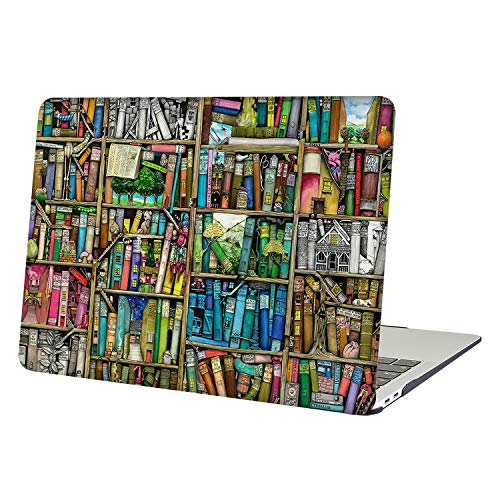 YMIX  Plastic Cover Snap on Hard Protective Case for MacBook Pro 13' Retina NO CD-ROM (A1502 & A1425) , 01 Bookshelf