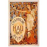 A&D Wein Poster hau Reims Vintage Alkoholische Getränke