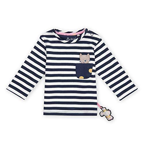 Sigikid Baby-Mädchen Langarmshirt aus Bio-Baumwolle, Größe 062-098 Pullover, Blau/Streifen, 92