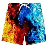 Spreadhoodie Niño Bañador Natación 3D Impresos Secado Rápido Ropa de Playa Hawaiano Pantalones Cortos con Bolsillos Laterales 14-16 Años