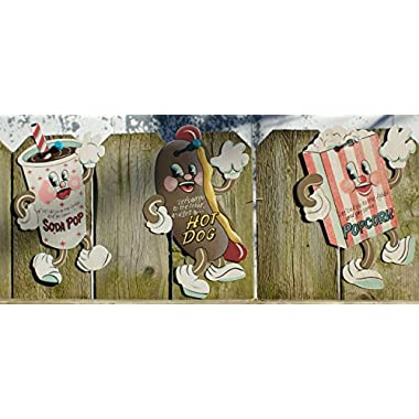 Dancing Snacks- Set of 3 Tin Sign 7 x 5in