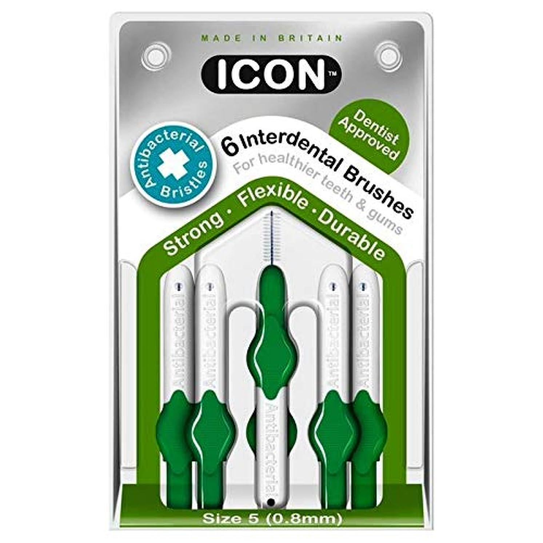 [Icon ] アイコンの歯間には、パックあたり0.8ミリメートル6ブラシ - Icon Interdental Brushes 0.8mm 6 per pack [並行輸入品]