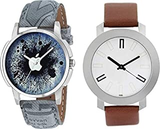 New Raiyaraj Embroidery Analogue Blue White Dial Men's Watch Combo