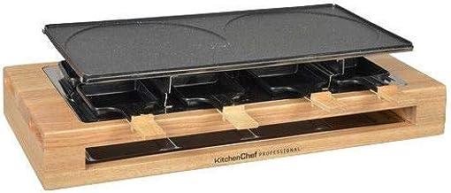 Kitchen chef - kcwood8maxi - Appareil … raclette 8 personnes 1500w + gril