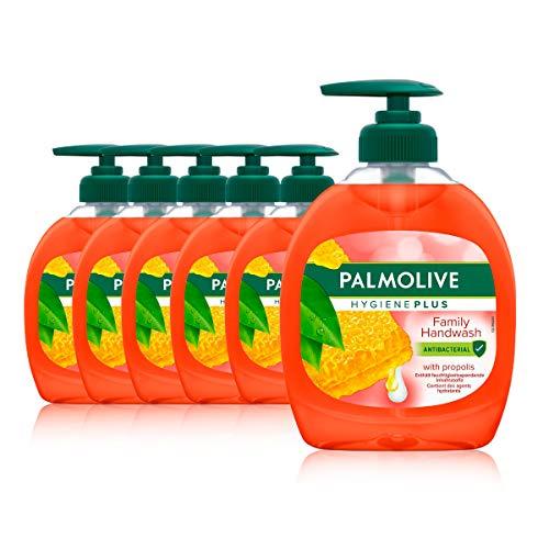 Palmolive Seife Hygiene-Plus Family 6 x 300 ml, antibakteriell, für alle Hauttypen, flüssige Handseife
