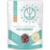 Wild Caught White Fish Jerky - Honey Lemon Ginger - OneForNeptune 2.2oz | Organic, Gluten-Free & Paleo | 20g Protein & 580mg Omega 3s | Sustainably Sourced from Small US Fisheries