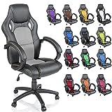 TRESKO Silla giratoria de oficina Sillón de escritorio Racing disponible en 14 colores, bicolor,...