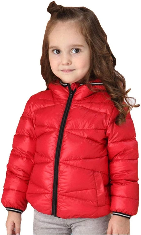 YZ-HODC Kinder-Daunenjacke leichte und dünne warme Kurze Herbst- und Winterjacke mit Kapuze für männer und Frauen