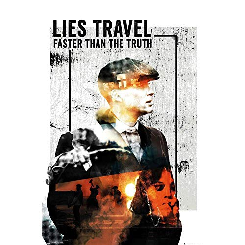 Peaky Blinders - Póster texto Lies Travel Fast