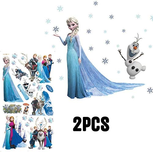Kibi 2PCS Stickers Infantiles Frozen Adhesivos Pared Decorativos Pegat