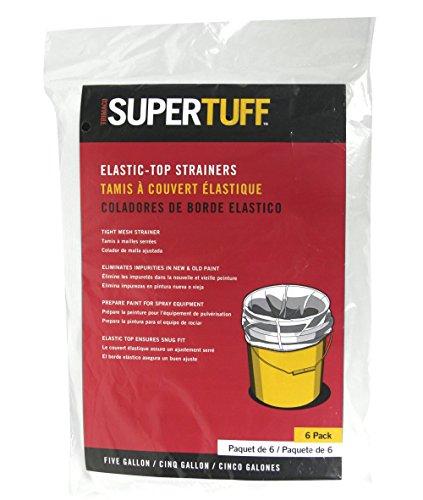 Trimaco 30206 SuperTuff Regular Mesh/Elastic Top Bag Strainers, 5 Gallon, (6-Pack)