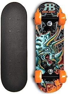 Rude Boyz 17 Inch Mini Wooden Cruiser Graphic Beginner Kids Skateboard