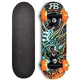 Rude Boyz 17 Inch Mini Wooden Cruiser Graphic Beginner Skateboard (Dinosaur Design)
