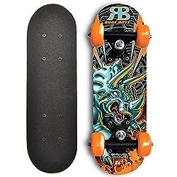 2. Rude Boyz 17″ Mini Wooden Cruiser Dinosaur Skateboard