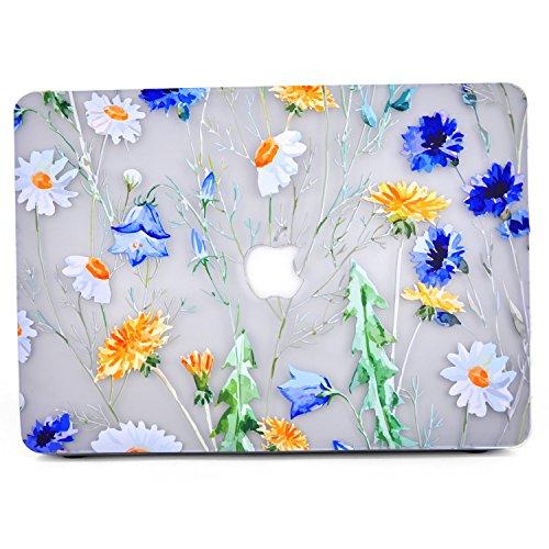 """Capa para MacBook Air 11 polegadas (modelo A1370/A1465), capa de plástico rígido com impressão 3D L2W capa protetora para laptop para MacBook Air 11 polegadas - explosão criativa (branco fosco preto), Chrysanthemum, Pro 15.4"""" Retina (USB 3 ports)"""