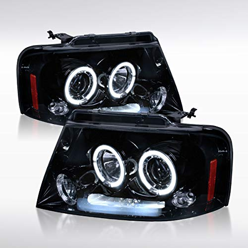Autozensation for 04-08 Ford F150 06-08 Mark LT Black Smoke Halo Projector...