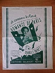 LA ROMANCE DE PARIS partition CHARLES TRENET