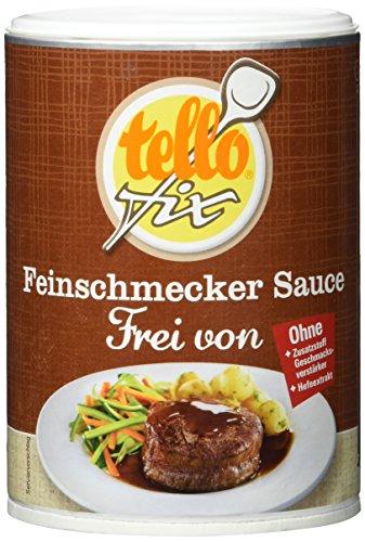 tellofix Feinschmecker Sauce zu Braten Frei von - ohne Geschmacksverstärker, ohne Farbstoffe und ohne Konservierungsmittel, vegan - 1 x 200 g